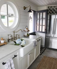 "- Becki Owens (@beckiowens) on Instagram: ""Shiplap, farmhouse sink and Dutch door"