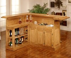 Wood Home Bar Small