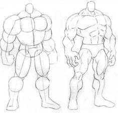 Dibujar Personajes Manga con Músculos - Semi Perfil