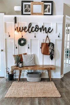 Entry Way Ideas Rustic Home Entry Way Ideas Rustic Home Carleyb Farmhouse Home Decor I m Loving entrywaydecor homedecor homedecorideas bohohome livingroomdecor masterbedroomideas masterbedroom livingroomideas nbsp hellip Living Room wall Home Projects, Interior, Home, Home Remodeling, House Interior, Living Room Wall, Apartment Decor, Home And Living, Rustic House