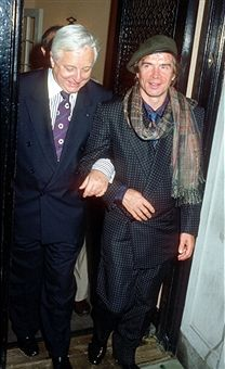 John Taras and Rudolf Nureyev during Dinner Reception for the Wedding of Lee Radziwill and Herb Ross at Jackie Kennedy Onassis' 5th Avenue Apartment in New York City, New York, United States.