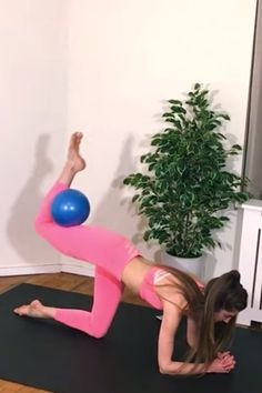 Pilates Ball Workout Videos Easy Workouts, At Home Workouts, All You Need Is, Have Fun, Total Body Toning, Animals For Kids, Workout Gear, Workout Videos, Pilates