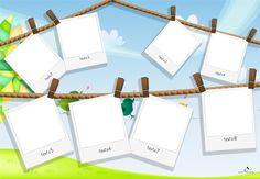 Plantilla Child 29x42 para la Creación de Foto Libros - Fondo Cuerdas sobre las que penden fotografías cogidas por pinzas