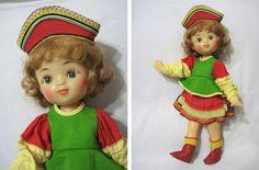 Кукла Москвичка, 45 см, ф-ка 8 Марта, Москва, СССР, нач. 70-х. Новая! Бирка!