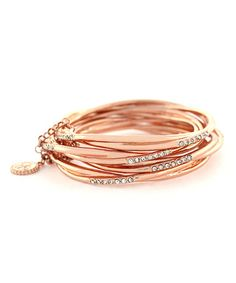 Look what I found on #zulily! Rose Gold Crystal Bracelet by Jessica Simpson Collection #zulilyfinds