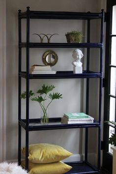 Navy Bamboo Etagere by HOSTAANDCO on Etsy