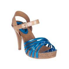 Sandalia bio espejo azul - Sandalias de tacón - Zapatos - Tiendacuple.com