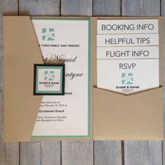 Gorgeous Destination Wedding Invitation by JFietzDesign on Etsy, $5.50