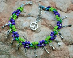 Guarda questo articolo nel mio negozio Etsy https://www.etsy.com/it/listing/281852626/cavigliera-turquoise-purple-bohemian