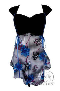 fbf1b1de1779a Cinch Top in Gothic Blue. Plus Size Corset TopsCorset ...