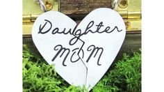 """- Daughter Mother Necklaces Engraved with """" Chains Included Heart Pendant Necklace, Necklace Set, Dog Tag Necklace, Mother Daughter Jewelry, Mom Daughter, I Love Mom, Engraved Necklace, Chains, Unique Jewelry"""