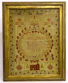 18th c. sampler Barbara Hethereys Samplar made in the year 1746#Repin By:Pinterest++ for iPad#