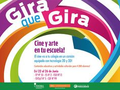 [Cultura] #GiraQueGira ►  El #Cine se acerca a tu Escuela!