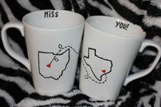 Long Distance BFF Coffee Mugs