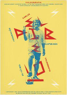 Retro poster - Carlos Valderrama