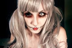 scary doll make-up - Google Search