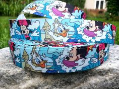 3 Yards Mickey and Minnie Printed Ribbon by WillyWooks on Etsy