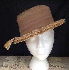 Fisk Hat Vintage Pink Hat Boater Hat Collectible Hat Boudoir