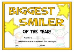A fantastic printable set of 30 fun certificates that can be awarded to students at the end of the year. This set comprises of a range of different awards from comical to sincere. Ideal for recognizing and celebrating children's individuality! Visit our TpT store for more information and for other classroom display resources by clicking on the provided links.