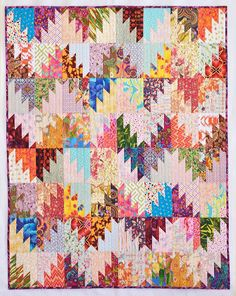 Another great Scrappy Mountain Majesties! Free pattern found under the free patterns tab at the top of the blog here: http://quiltville.blogspot.com/p/free-patterns.html