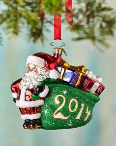 H7CPR Christopher Radko A Jolly Year Christmas Ornament