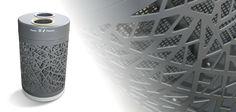 Recycling trash can / galvanized steel / for public areas ECOFRECCIA by Alfredo Tasca, Raffaele Lazzari METALCO