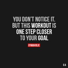 You Don't Notice It But this workout is one step closer to your goal