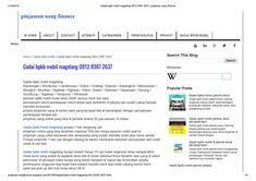 Gadai bpkb mobil magelang by pinjamanuangfinance - issuu