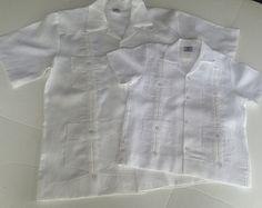 Men Linen Guayabera shirt, Boy linen, Mexican wedding shirt, Cuban Shirt, Tropical Shirt
