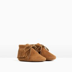 FRINGED LEATHER BOOTS-SHOES-MINI | 0-12 months-KIDS | ZARA United States