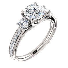 Swarovski Cubic Zirconia Engagement ring  PURE by SigoJewelry, $95.00