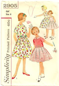 Girls Vintage Dress Onepiece Sleeveless and by PatternPriority, $5.25