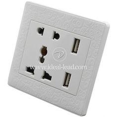 Dongguan Universal Electrical Wall Outlet 5 Pin USB Socket