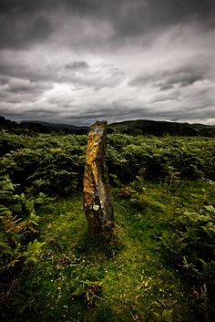 Machynlleth stone by Paul Anderson, via Ancient Symbols, Ancient Ruins, Rock Path, Stone Cairns, Scotland History, Sticks And Stones, Stone Sculpture, Spirals, Runes