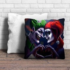 Joker And Harley Quinn Pillow | Aneend