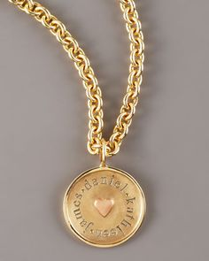 Round Name Charm by Heather Moore at Neiman Marcus.