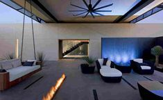 Modern Desert House Designed For Enjoyable Desert Living - Architecture Beast Bungalows, Indoor Outdoor Living, Outdoor Spaces, Amazing Architecture, Architecture Design, Desert Design, Desert Homes, Terrazzo, Building A House