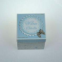 Pudełko z życzeniami na chrzest dla chłopca Decorative Boxes, Retro, Cover, Retro Illustration, Decorative Storage Boxes