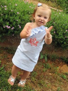 how precious. when your daughter is a sorority legacy you gotta make sure she dresses the part!