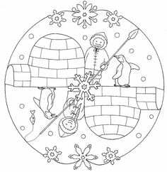 Winter Mandala Coloring Pages For Kids