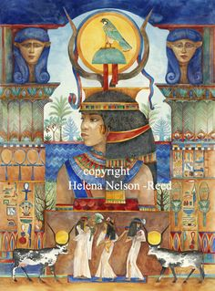 The Temples of Light: An Initiatory Journey into the Heart Teachings of the Egyptian Mystery Schools - Danielle Rama Hoffman, Nicki Scully Ancient Goddesses, Egyptian Mythology, Egyptian Art, Gods And Goddesses, Egyptian Symbols, Egyptian Goddess, Temple Of Light, Magic Realism, Realism Art