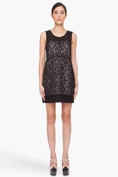 MARC BY MARC JACOBS Black Silk Muriel Lace Dress