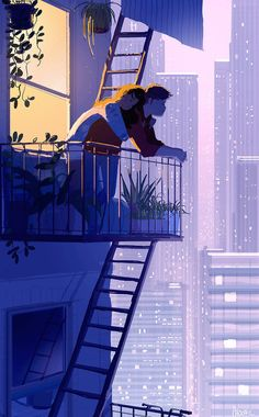 Pascal Campion is a French-American artist based in Burbank, California who creates heartwarming and soulful illustrations about every day life. Couple Amour Art, Art Love Couple, Love Art, Couple Bed, Illustration Art Nouveau, Couple Illustration, Night Illustration, Couple Drawings, Art Drawings