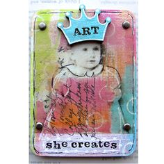 Red Lead Paperworks ATC - She Loves Art