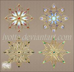 Gold items set lyotta 02 by Lyotta.deviantart.com on @DeviantArt