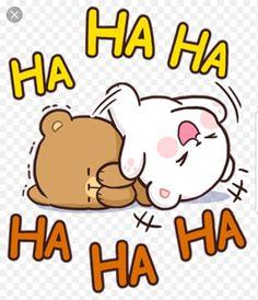 Ha ha ha Cute Love Pictures, Cute Love Gif, Bear Pictures, Cute Couple Cartoon, Cute Love Cartoons, Cute Bear Drawings, Kawaii Drawings, Cute Love Stories, Anime Gifts