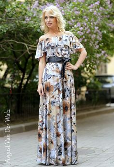 "Designer womens dresses Summer dress."" My beautiful Lady""  Maxi dress. Womens #Dress with exclusive Floral print. This is the best dress for your wardrobe.)  Wear it in hot summer or take this dres... #dresses #dress #clothing #fashion #eveningdress"