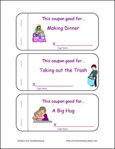 this free printable coupon book for kids to give to mom on mother s