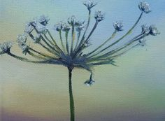 Mixed Media painting on Canvas  Botanical Parsley by VividSpirit