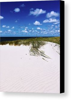 Dunes On  Sylt Canvas Print by Marina Usmanskaya.  All canvas prints are professionally printed, assembled, and shipped within 3 - 4 business days and delivered ready-to-hang on your wall. Choose from multiple print sizes, border colors, and canvas materials.